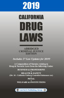 2019 California Drug Laws Abridged