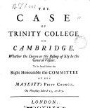 The Case of Trinity College in Cambridge