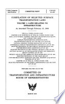 Compilation of Selected Surface Transportation Laws