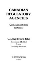 Canadian Regulatory Agencies
