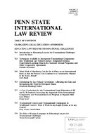 Penn State International Law Review