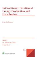 International Taxation of Energy Production and Distribution Pdf/ePub eBook