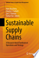 Sustainable Supply Chains Book