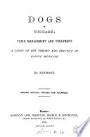 Dogs in disease  teir management and treatment