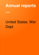 Pdf Annual Reports of the War Department