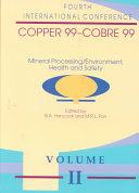 Proceedings of the Copper 99 Cobre 99 International Conference  Mineral processing