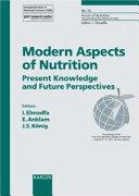 Modern Aspect of Nutrition Book