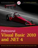 Professional Visual Basic 2010 and  NET 4