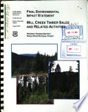 Rogue River National Forest  N F    Mill Creek Timber Sales and Related Activities Book