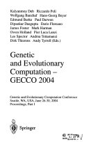 Genetic and Evolutionary Computation  GECCO