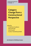 Category Change from a Constructional Perspective ebook