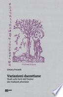 Variazioni dacostiane. Studi sulle fonti dell'«Exame das tradiçoes phariseas»
