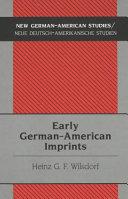 Early German American Imprints