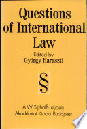 Questions Of International Law