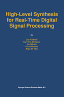 High Level Synthesis for Real Time Digital Signal Processing
