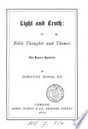 Light And Truth Or Bible Thoughts And Themes Book PDF
