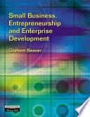 Small Business, Entrepreneurship and Enterprise Development
