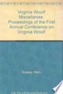 Virginia Woolf Miscellanies