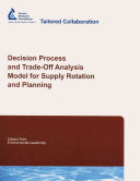 Decision Process and Trade-off Analysis Model for Supply Rotation and Planning