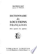 Dictionnaire des locutions françaises