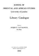 Library Catalogue  Subject catalogue