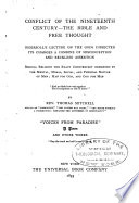 Conflict of the Nineteenth Century   The Bible and Free Thought Book