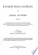 Favorite Songs And Hymns For School And Home PDF