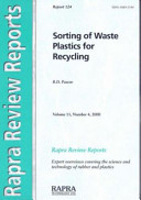 Sorting of Waste Plastics for Recycling