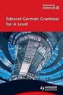 Cover of Edexcel German Grammar for A Level
