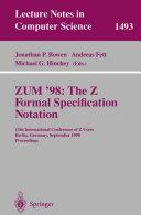 ZUM  98  The Z Formal Specification Notation