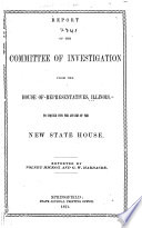 Report of the Committee of Investigation to Inquire Into the Affairs of the New State House