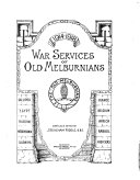 War Services of Old Melburnians, 1914-1918