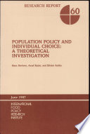 Population Policy And Individual Choice