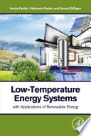 Low Temperature Energy Systems with Applications of Renewable Energy