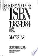 Libros españoles en venta  : 1983-1984. Materias. 3