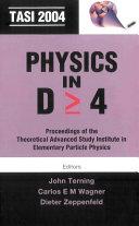 Physics In D ò 4 Tasi 2004 Pdf/ePub eBook