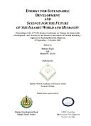 Energy for Sustainable Development and Science Technology for the Future of the Islamic World and Humanity Book