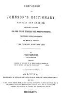 Companion to Johnson s Dictionary  Bengali and English