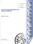 Can Foreign Aid Moderate Ethnic Conflict  Book
