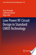 Low Power Rf Circuit Design In Standard Cmos Technology Book PDF