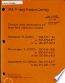 IRS Printed Product Catalog