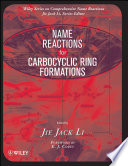 Name Reactions for Carbocyclic Ring Formations Book