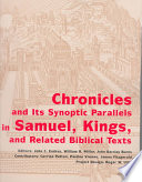Chronicles And Its Synoptic Parallels In Samuel Kings And Related Biblical Texts