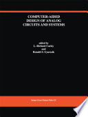 Computer Aided Design of Analog Circuits and Systems Book
