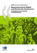 Oecd Journal On Development Volume 9 Issue 2 Measuring Human Rights And Democratic Governance Experiences And Lessons From Metagora