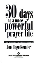 30 Days to a More Powerful Prayer Life Book