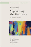 EBOOK  Supervising the Doctorate