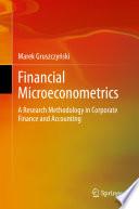 Financial Microeconometrics