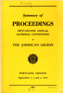 Summary of Proceedings of the     National Convention of the American Legion