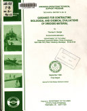 Guidance For Contracting Biological And Chemical Evaluations Of Dredged Material Book PDF